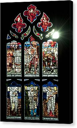 Church Window I Canvas Print by Svetlana Sewell