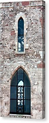 Church Windows Canvas Print by Shirley Mitchell