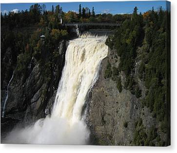 Chutes Montmorency Quebec City Canvas Print by Margarete M Kedl