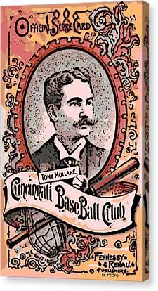 Cincinnati Baseball Canvas Print by George Pedro