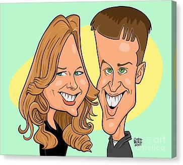 Cindy And Jordan Canvas Print by Chris Berg