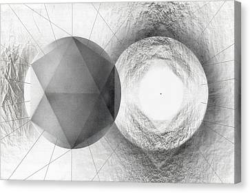 Circle Potential Canvas Print by David Kleinsasser