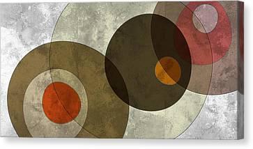 Circled Tones Canvas Print by Nomi Elboim