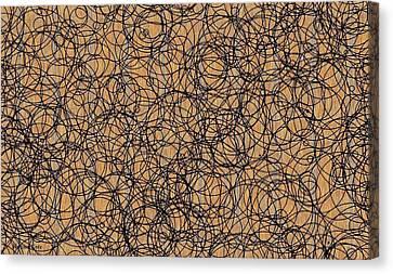 Circles Canvas Print by Katina Cote