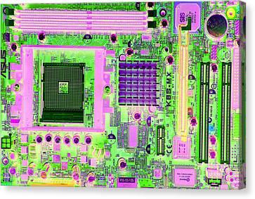 Circuit Board Canvas Print by Victor De Schwanberg