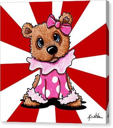 Circus Bear Cutie Canvas Print by Kim Niles