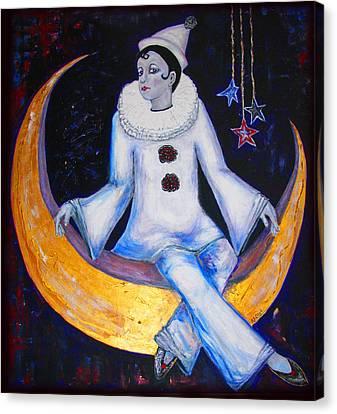 Cirque De La Lune Canvas Print by Barbara Jean Lloyd