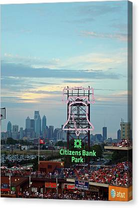 Citizens Bank Park 1 Canvas Print by See Me Beautiful Photography