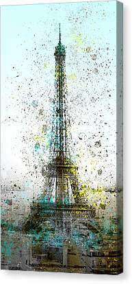 City-art Paris Eiffel Tower II Canvas Print by Melanie Viola