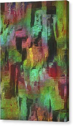 City At Night Canvas Print by Jack Zulli