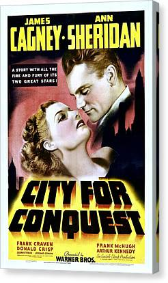 City For Conquest, Ann Sheridan, James Canvas Print by Everett