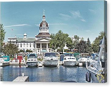 City Hall Kingston Ontario Canada Canvas Print by Peggy Holcroft