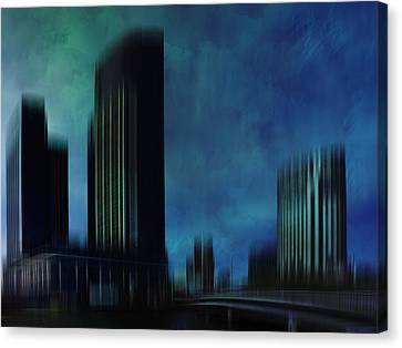 City Shapes Melbourne I Canvas Print by Melanie Viola