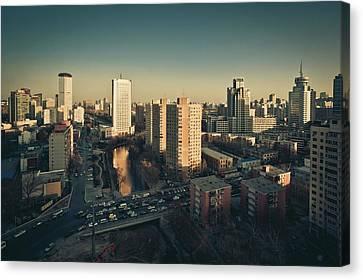Cityscape Of Beijing, China Canvas Print by Yiu Yu Hoi
