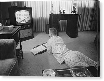 Civil Rights, Classes On Television Canvas Print by Everett