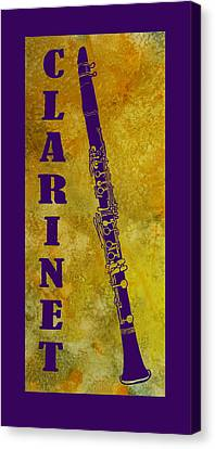 Clarinet Canvas Print by Jenny Armitage