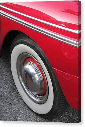 Classic Car Mercury Red 1 Canvas Print by Anita Burgermeister