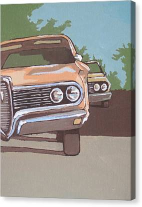 Classic Cars Canvas Print by Sandy Tracey