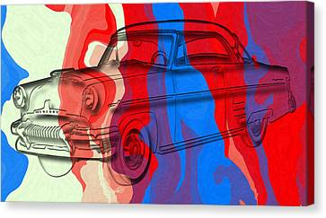 Classic Mercury Abstract Canvas Print by David G Paul