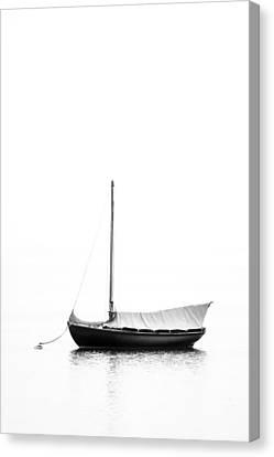 Classic Yacht Sails Down Canvas Print by Dapixara Art