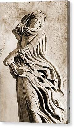 Classical Greek Dancer. Albumen Print Canvas Print by Everett
