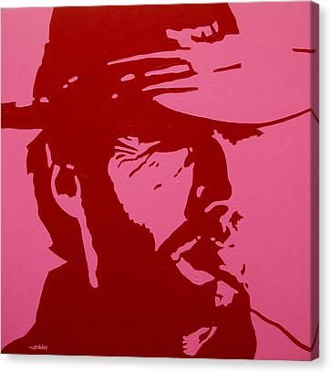 Clint Canvas Print by John  Nolan