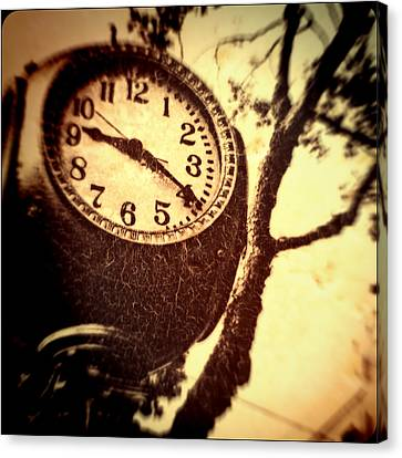 Clock In San Francisco  Canvas Print by Susan Stone