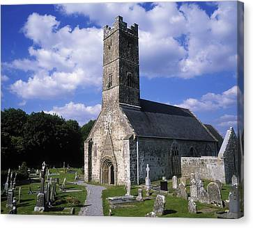 Clonfert Cathedral, Clonfert, Co Canvas Print by The Irish Image Collection