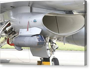 Close-up Of A Sniper Advanced Targeting Canvas Print by Timm Ziegenthaler