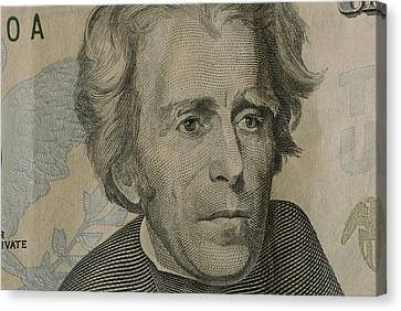 Close Up Of Andrew Jackson Canvas Print by Joel Sartore