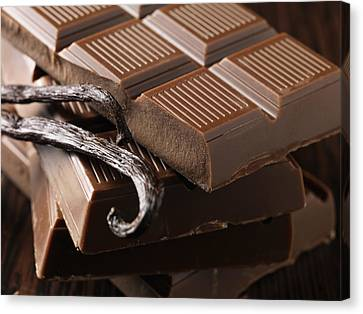 Close Up Of Chocolate And Vanilla Bean Canvas Print by Cultura/Diana Miller