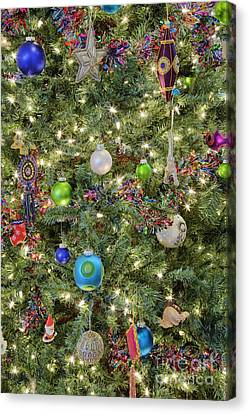 Close-up Of Christmas Tree Canvas Print by Jeremy Woodhouse