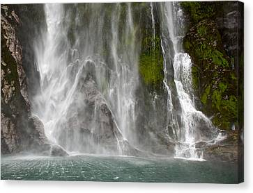 Close Up Of One Of The Many Waterfalls Canvas Print by Brooke Whatnall