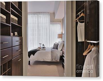 Closet In Upscale Bedroom Canvas Print by Andersen Ross