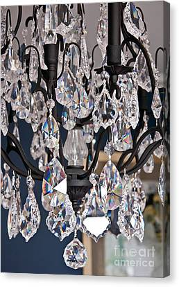 Closeup Of Crystal Chandelier Art Prints Canvas Print by Valerie Garner