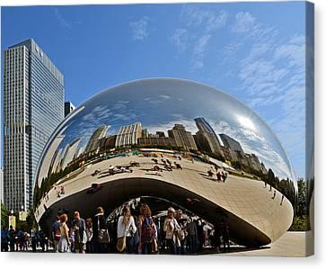 Cloud Gate - The Bean - Millennium Park Chicago Canvas Print by Christine Till