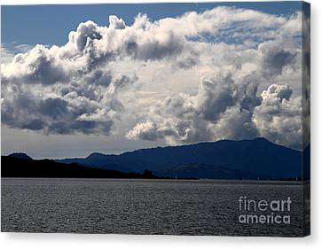 Clouds Over Mount Tamalpais . 7d13713 Canvas Print by Wingsdomain Art and Photography