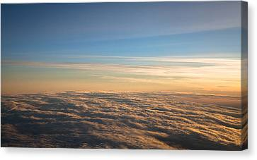 Cloudscape From A 757 Canvas Print by David Patterson