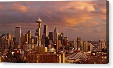 Cloudscrapers Canvas Print by Dan Mihai