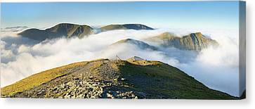 Cloudsurfing Grisedale Pike Canvas Print by Stewart Smith