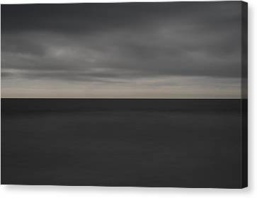 Cloudy Afternoon On Beach Canvas Print by Catherine Lau
