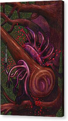 Club Smashes A Naphal Canvas Print by Al Goldfarb
