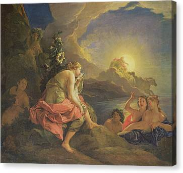 Clytie Transformed Into A Sunflower Canvas Print by Charles de Lafosse
