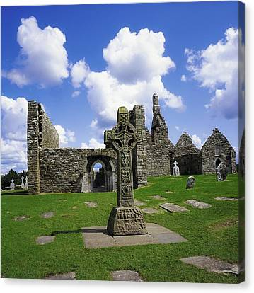 Co Offaly, Clonmacnoise Canvas Print by The Irish Image Collection