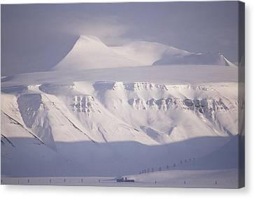Coal Mining Tram Towers Cross Valley Canvas Print by Gordon Wiltsie