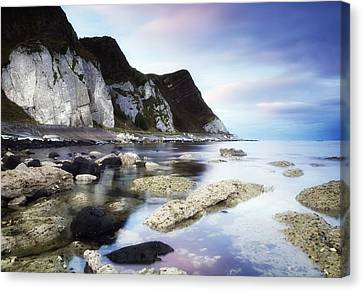 Coast Between Carnlough & Waterfoot, Co Canvas Print by The Irish Image Collection