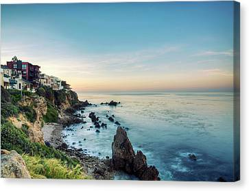 Coastal Dream Home Sunrise Canvas Print by Original photography by Neos Design - Cory Eastman