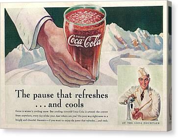 Coca Cola 1937 Canvas Print by Georgia Fowler
