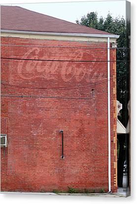 Coca Cola Faded Canvas Print by Denise Keegan Frawley