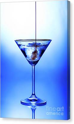Cocktail Being Poured Canvas Print by Jane Rix